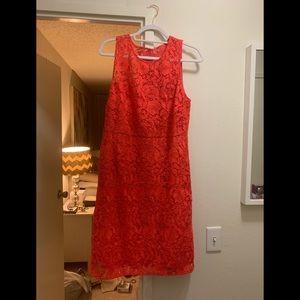 J.Crew Lace coral Dress